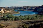 Missouri River, Lewis and Clark trail, the White Cliffs, Upper Missouri River Breaks National Monument, Montana, North America, USA, .