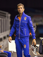 September 09, 2014,Netherlands, Amsterdam, Ziggo Dome, Davis Cup Netherlands-Croatia, Training Dutch Team, Jean-Julien Rojer<br /> Photo: Tennisimages/Henk Koster