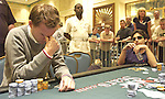 Anders Jenriksson agonizes over a move against Ziv Bachar, in the background.