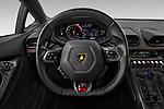Car pictures of steering wheel view of a 2019 Lamborghini Huracan - 2 Door Coupe Steering Wheel
