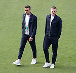 22.06.2021 Croatia v Scotland: Scotland players walkabout on the pitch pre-match: Stephen O'Donnell and Scott McTominay