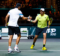Rotterdam, The Netherlands, 15 Februari 2020, ABNAMRO World Tennis Tournament, Ahoy,<br /> Doubles: Henri Kontinen (FIN) and Jan-Lennard Struff (GER).<br /> Photo: www.tennisimages.com