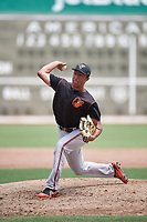 GCL Orioles relief pitcher Andrew Ciolli (35) delivers a pitch during a game against the GCL Red Sox on August 9, 2018 at JetBlue Park in Fort Myers, Florida.  GCL Red Sox defeated GCL Orioles 10-4.  (Mike Janes/Four Seam Images)