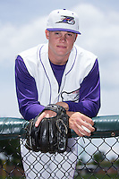 Winston-Salem Dash relief pitcher Zack Burdi (33) poses for a photo prior to the game against the Wilmington Blue Rocks at BB&T Ballpark on June 26, 2016 in Winston-Salem, North Carolina.  Burdi was the 26th overall selection by the Chicago White Sox in the 2016 First Year Player Draft.  (Brian Westerholt/Four Seam Images)