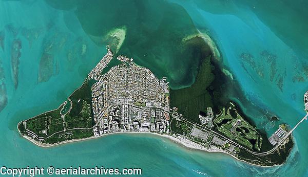 aerial photo map of Key Biscayne, Miami-Dade County, Florida