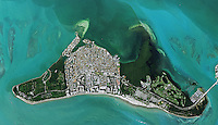 aerial photo map of Key Biscayne, Miami-Dade County, Florida