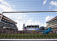 PHILADELPHIA, PA - JUNE 30: Luis Mejia #1 attempts to save a penalty kick during a game between Panama and Jamaica at Lincoln Financial FIeld on June 30, 2019 in Philadelphia, Pennsylvania.