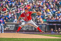 21 April 2013: Washington Nationals starting pitcher Jordan Zimmermann on the mound against the New York Mets at Citi Field in Flushing, NY. The Mets shut out the visiting Nationals 2-0, taking the rubber match of their 3-game weekend series. Mandatory Credit: Ed Wolfstein Photo *** RAW (NEF) Image File Available ***