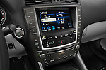 Stereo audio system close up detail view of a 2009 Lexus IS 350