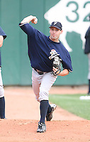 2007:  Matt DeSalvo of the Scranton Wilkes-Barre Yankees, Class-AAA affiliate of the New York Yankees, during the International League baseball season.  Photo by Mike Janes/Four Seam Images