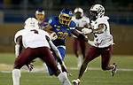 BROOKINGS, SD - MAY 2: Pierre Strong Jr. #20 of the South Dakota State Jackrabbits looks to get past D'Ante' Cox #2 of the Southern Illinois Salukis at Dana J Dykhouse Stadium on May 2, 2021 in Brookings, South Dakota. (Photo by Dave Eggen/Inertia)