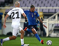 FBL- Friendly  football match Italy vs Estonia at the Artemio Franchi stadium in Florence on November 11, 2020.<br /> Italy's Emerson (r) in action with Estonia's Nikita Baranov (r) during the friendly football match between Italy snd Estonia at the Artemio Franchi stadium in Florence on November 11, 2020. <br /> UPDATE IMAGES PRESS/Isabella Bonotto
