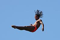 12th June 2021, Saint-Raphaël, Provence-Alpes-Côte d'Azur, France; Red Bull Cliff Diving competition;  Nathan JIMERSON (USA)