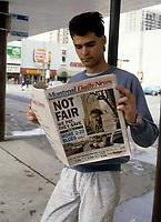 Le quotidien anglophone MONTREAL DAILY NEWS<br /> publie par Quebecor entre mars 1988 et decembre 1989