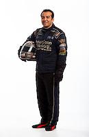 Jan 16, 2013; Palm Beach Gardens, FL, USA; NHRA funny car driver Tony Pedregon poses for a portrait. Mandatory Credit: Mark J. Rebilas-