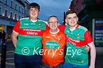 Enjoying the evening in Killarney on Saturday, l to r: Sean Moore, Gary Doran and Sean O'Neill (Mayo and Killarney)
