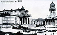 East Berlin: The Platz der Akadamie, 1900 (Ex-Gendarmenmarkt). Formerly Schillerplatz . Reference only.