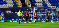 2nd October 2020; St Andrews Stadium, Coventry, West Midlands, England; English Football League Championship Football, Coventry City v AFC Bournemouth; Jefferson Lerma of AFC Bournemouth celebrates with his team after scoring in the 6th minute