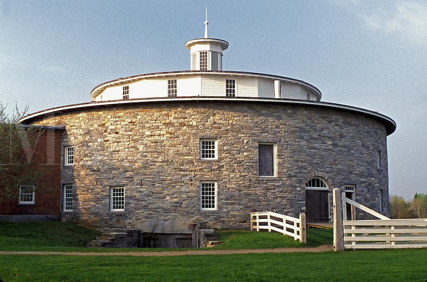 Round Stone Barn, shakers, Hancock Shaker Village, Pittsfield, Massachusetts, The Berkshires, spring.