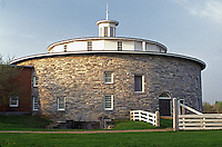 Round Stone Barn, shakers, Hancock Shaker Village, Pittsfield, Massachusetts, The Berkshires, spring.