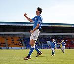 Brian Graham celebrates his goal for St Johnstone