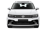 Car photography straight front view of a 2019 Volkswagen Tiguan Highline 5 Door SUV