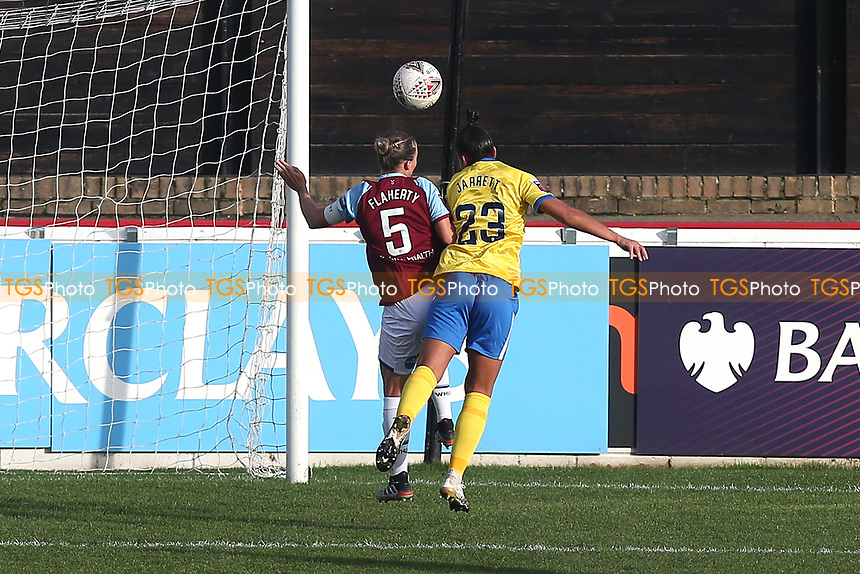 Rianna Jarrett of Brighton scores the first goal for her team and celebrates during West Ham United Women vs Brighton & Hove Albion Women, Barclays FA Women's Super League Football at the Chigwell Construction Stadium on 15th November 2020