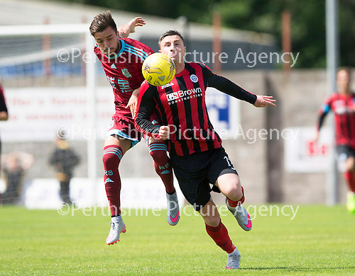 St Johnstone v Real Sociadad...12.07.15  Bayview, Methil (Home of East Fife FC)<br /> Michael O'Halloran and Hector Hernandez<br /> Picture by Graeme Hart.<br /> Copyright Perthshire Picture Agency<br /> Tel: 01738 623350  Mobile: 07990 594431