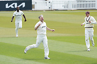 Rikki Clarke, Surrey CCC celebrates the wicket of James Vince during Surrey CCC vs Hampshire CCC, LV Insurance County Championship Group 2 Cricket at the Kia Oval on 1st May 2021