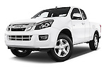 Stock pictures of low aggressive front three quarter view of a 2015 Isuzu D-Max L+ 4 Door Pickup 2WD Low Aggressive