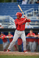Williamsport Crosscutters first baseman Nerluis Martinez (11) at bat during a game against the Batavia Muckdogs on August 3, 2017 at Dwyer Stadium in Batavia, New York.  Williamsport defeated Batavia 2-1.  (Mike Janes/Four Seam Images)