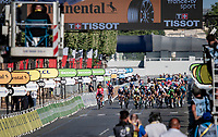 bunch sprint with 150 meters to go....<br /> <br /> Stage 21 (Final) from Chatou to Paris - Champs-Élysées (108km)<br /> 108th Tour de France 2021 (2.UWT)<br /> <br /> ©kramon