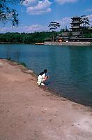 China, Chengde, Sommerpalast, Goldhügel mit Jinshan-Tempel, Unesco-Weltkulturerbe