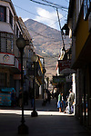 A quiet street in the city of Potosí, Bolivia.