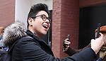 "George Salazar during the Theatre Marquee unveiling for ""Be More Chill"" on January 17, 2019 at the Lyceum Theatre in New York City."