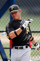 July 13, 2009:  Third Baseman Elevys Gonzalez of the GCL Pirates during a game at Tiger Town in Lakeland, FL.  The GCL Pirates are the Gulf Coast Rookie League affiliate of the Pittsburgh Pirates.  Photo By Mike Janes/Four Seam Images