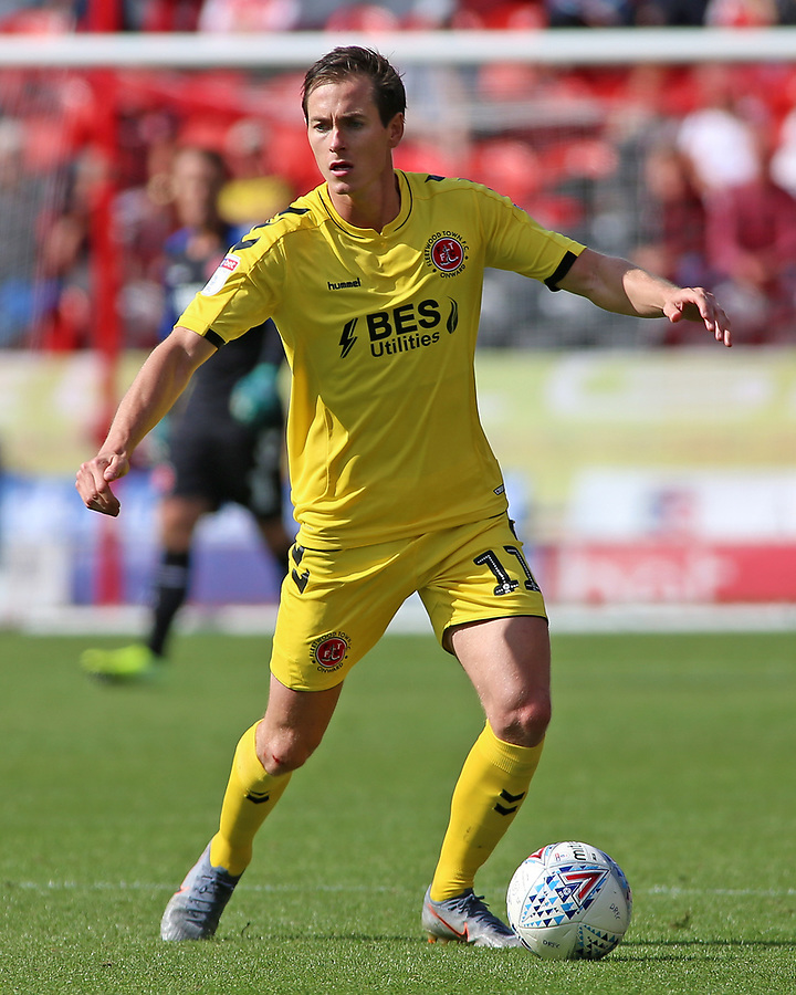 Fleetwood Town's Josh Morris in action<br /> <br /> Photographer David Shipman/CameraSport<br /> <br /> The EFL Sky Bet League One - Doncaster Rovers v Fleetwood Town - Saturday 17th August 2019  - Keepmoat Stadium - Doncaster<br /> <br /> World Copyright © 2019 CameraSport. All rights reserved. 43 Linden Ave. Countesthorpe. Leicester. England. LE8 5PG - Tel: +44 (0) 116 277 4147 - admin@camerasport.com - www.camerasport.com
