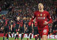 Liverpool's Trent Alexander-Arnold reacts <br /> <br /> Photographer Rich Linley/CameraSport<br /> <br /> UEFA Champions League Round of 16 Second Leg - Liverpool v Atletico Madrid - Wednesday 11th March 2020 - Anfield - Liverpool<br />  <br /> World Copyright © 2020 CameraSport. All rights reserved. 43 Linden Ave. Countesthorpe. Leicester. England. LE8 5PG - Tel: +44 (0) 116 277 4147 - admin@camerasport.com - www.camerasport.com
