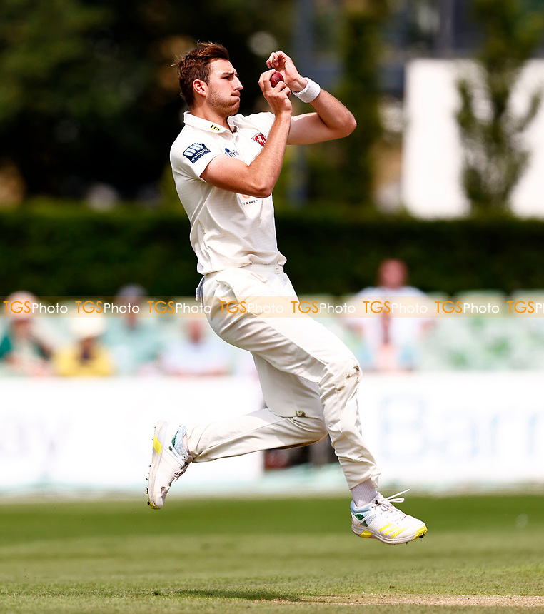 Bailey Wightman bowls for Kent during Kent CCC vs Sussex CCC, LV Insurance County Championship Group 3 Cricket at The Spitfire Ground on 13th July 2021