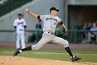 Dayton Dragons starting pitcher Tim Crabbe (10) during a game vs. the Great Lakes Loons at Dow Diamond in Midland, Michigan August 19, 2010.   Great Lakes defeated Dayton 1-0.  Photo By Mike Janes/Four Seam Images
