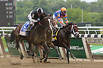 June 6, 2015:  Japan (#3, outside), Junior Alvarado up, wins the 5th running of the Winstar Farm Easy Goer Stakes for three year olds, one mile and one sixteenth, at Belmont Park, Elmont, NY. Trainer Bill Mott; owner Barry K. Schwartz. Joan Fairman Kanes/ESW/CSM