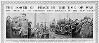 BNPS.co.uk (01202 558833)<br /> Pic: Pen&Sword/BNPS<br /> <br /> Pictured: Press coverage of the truce featured many photographs taken at the front by the participants.<br /> <br /> Previously unseen accounts of the First World War Christmas Day truce from the German side have come to light over 100 years on.<br /> <br /> British historian Anthony Richards has pored over hundreds of German diaries to shed new light on the temporary ceasefire in 1914.<br /> <br /> The fascinating accounts include one by a soldier who described the truce as a 'miracle' and called enemy troops his 'brothers'.