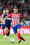 Saul Niguez Esclapez of Atletico de Madrid in action during their International Champions Cup Europe 2018 match between Atletico de Madrid and FC Internazionale at Wanda Metropolitano on 11 August 2018, in Madrid, Spain. Photo by Diego Souto / Power Sport Images
