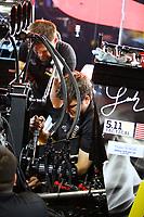 May 6, 2018; Commerce, GA, USA; Crew members for NHRA top fuel driver Leah Pritchett during the Southern Nationals at Atlanta Dragway. Mandatory Credit: Mark J. Rebilas-USA TODAY Sports