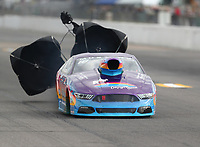 Oct 2, 2020; Madison, Illinois, USA; NHRA mountain motor pro stock driver XXXX during qualifying for the Midwest Nationals at World Wide Technology Raceway. Mandatory Credit: Mark J. Rebilas-USA TODAY Sports