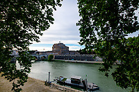 A view of Tiber river and Sant'Angelo castle during Italy's lockdown due to Covid-19 pandemic. <br /> Rome 30/04/2020 <br /> Photo Andrea Staccioli Insidefoto
