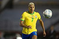 17th November 2020; Centenario Stadium, Montevideo, Uruguay; Qatar 2022 qualifiers; Uruguay versus Brazil; Richarlison of Brazil follows a through ball