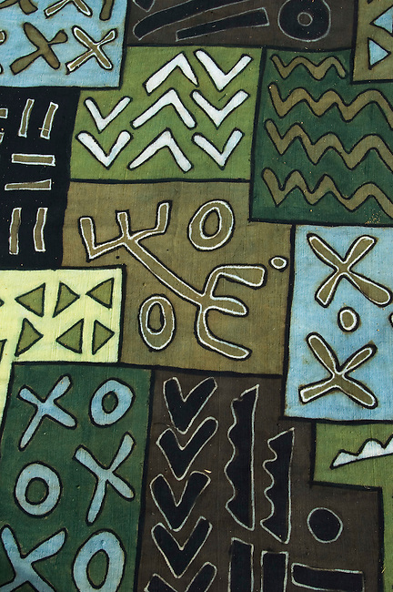 MALI, SEGOU, TRADITIONAL BAMBARA BOGOLAM MUD CLOTH, FABRIC, MODERN DESIGN