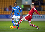 St Johnstone v Aberdeen…22.04.16  McDiarmid Park, Perth<br />Darnell Fisher is tackled by Johnny Hayes<br />Picture by Graeme Hart.<br />Copyright Perthshire Picture Agency<br />Tel: 01738 623350  Mobile: 07990 594431