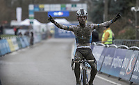 Eli Iserbyt (BEL/Marlux-Bingoal) winning the U23 race of the 2018 <br /> GP Sven Nys